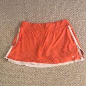Peach Nike tennis skirt
